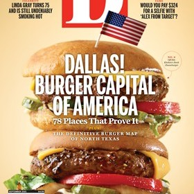 D Magazine Burger Cover